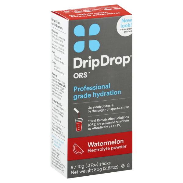 Drip Drop DripDrop  Electrolyte Powder, 8 ea