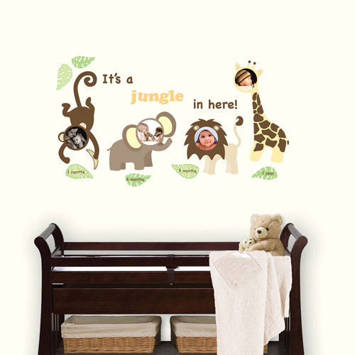 WallPops Jungle and Friends Photo Frame Kit