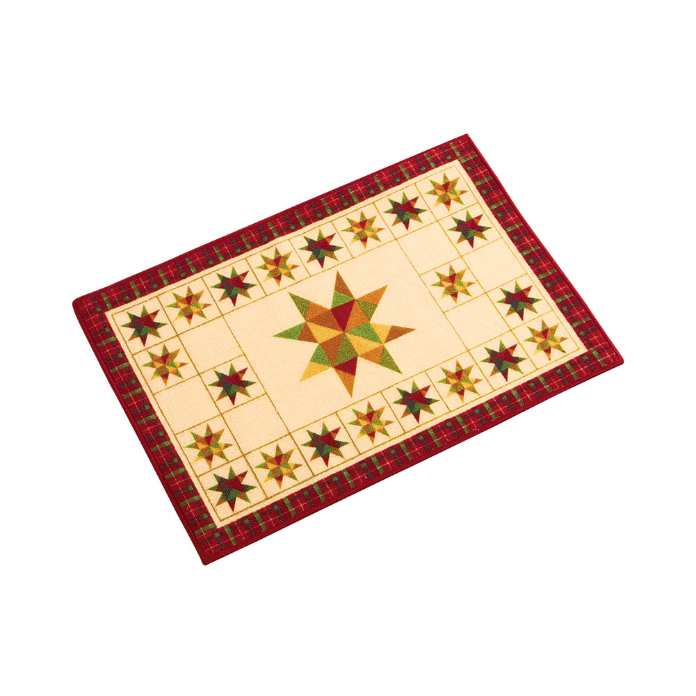 "Patchwork Primitive Star Accent Rug, 20"" X 30"""