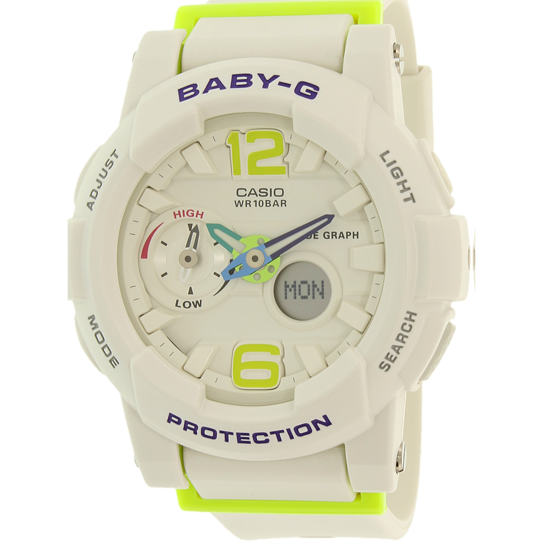 6b1b8b394 Casio Women's Baby-G BGA180-7B2 White Rubber Japanese Quartz Sport ...