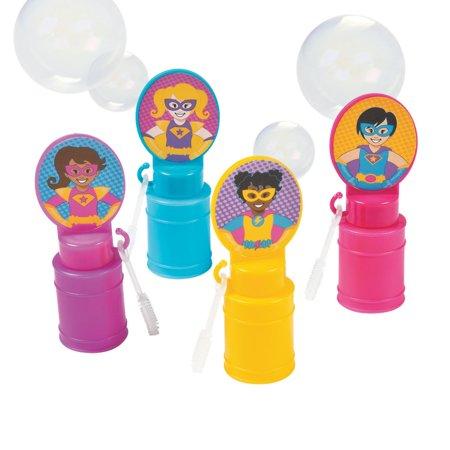 Superhero Girl Bubble Bottles - Superhero Bubbles