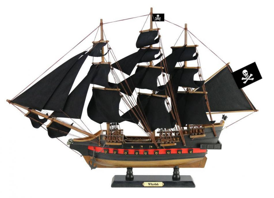 """Wooden Whydah Gally Black Sails Limited Model Pirate Ship 26"""" Decorative Boat Model Ship by Handcrafted Nautical Decor"""