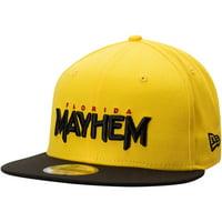 Florida Mayhem Overwatch League New Era Two-Tone Team Snapback Adjustable Hat - Yellow - OSFA