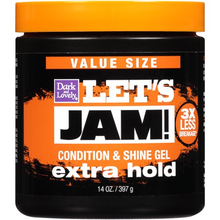 SoftSheen-Carson Let's Jam! Shining and Conditioning Hair Gel, Extra Hold, For all Hair Types, Styling Gel Also Great for Braiding, Twisting & Smooth Edges, Value Size, 14 (Best Hair To Use For Rope Twist)