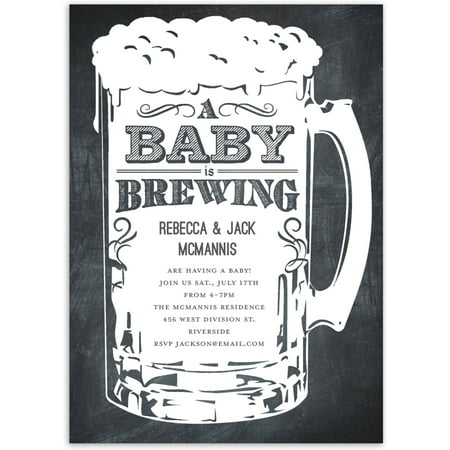 A Baby is Brewing Baby Invitation](Pink And Grey Baby Shower Invitations)