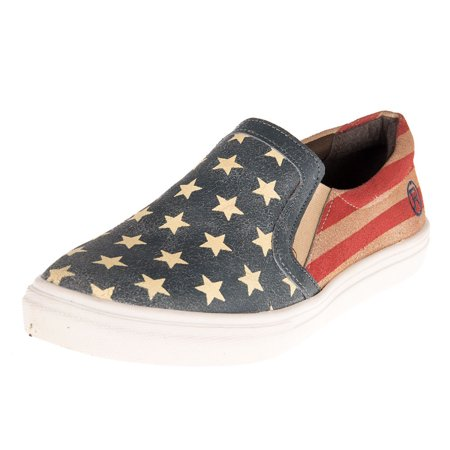 Roper Footwear Womens Ladies Flag Slip Ons