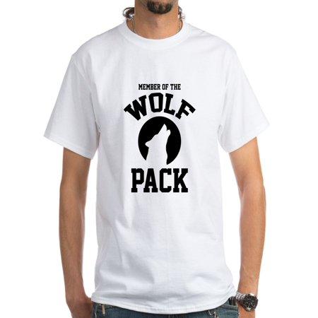 b4b49909f8cd CafePress - CafePress - Member Of The Wolf Pack White T-Shirt - Men's  Classic T-Shirts - Walmart.com