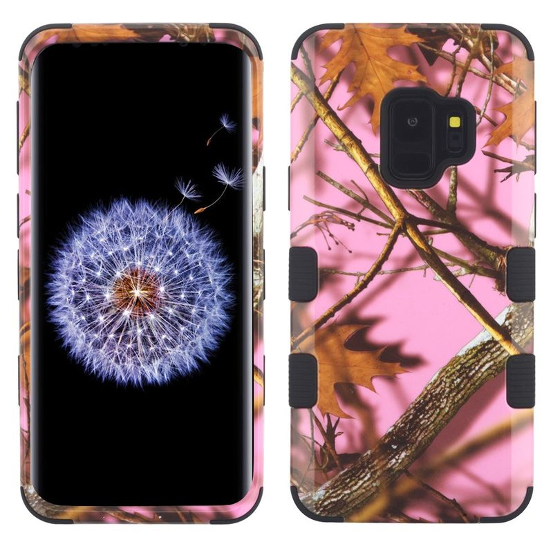 Insten Tuff Oak-Hunting Camouflage Dual Layer Hybrid PC/TPU Rubber Case Cover For Samsung Galaxy S9 - Multi-Color (Bundle with USB Type C Cable) - image 1 de 3