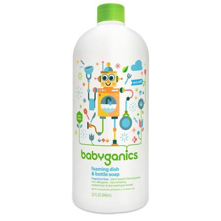 Babyganics Foaming Dish & Bottle Soap Refill, Fragrance Free, 32 Fl Oz (Babyganics Dish)