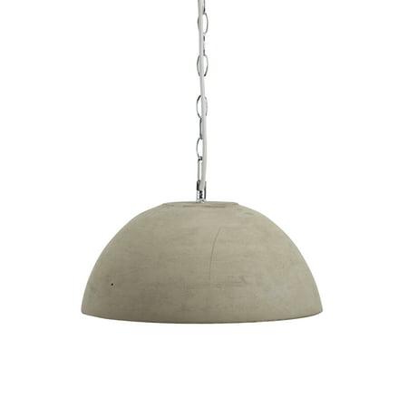 Nim Modern Round Cement 1 Light Pendant