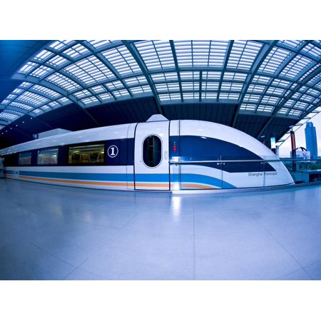 The Maglev Train, Fastest Train in the World, Shanghai, China Print Wall Art By Miva Stock