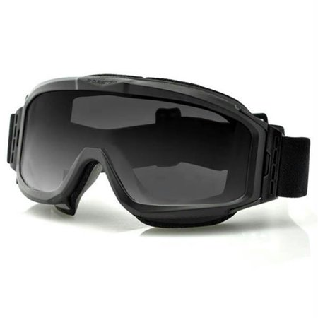 Bobster Alpha Ballistic-Tactical Goggles  2 Lenses  Black