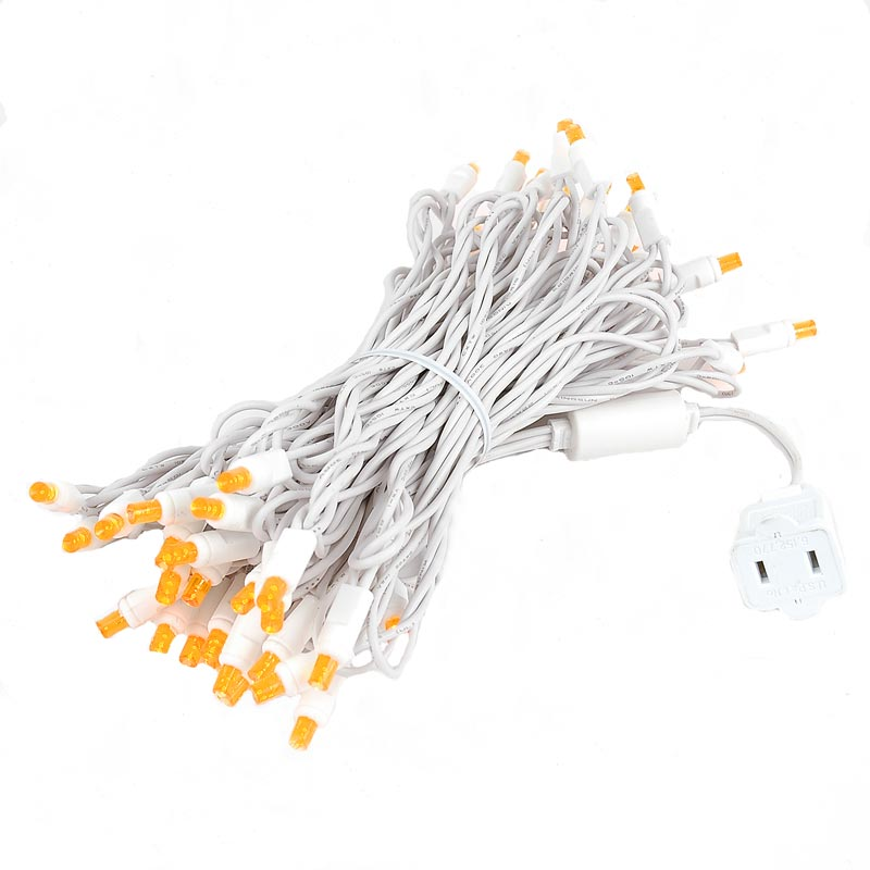 Novelty Lights 50 Light LED Christmas Mini Light Set, Outdoor Lighting Wedding Patio String Lights, White Wire, 25 Feet