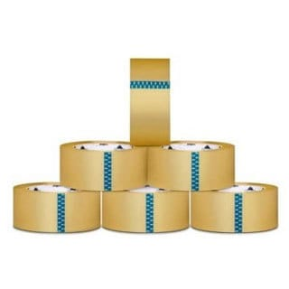 Packagingsuppliesbymail 24 Rolls Clear Carton Sealing Packing Tape Box Shipping 2.5 Mil 3-inch x 110 Yards