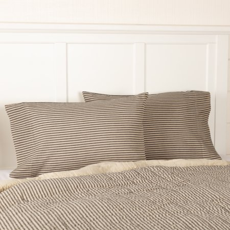 Dark Creme Charcoal White Farmhouse Bedding Miller Farm