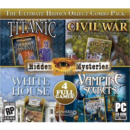 Hidden Mysteries: Titanic/Civil War/The White House/Vampire Secrets, 4pk (PC)