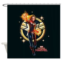 CafePress - Captain Marvel - Unique Cloth Shower Curtain