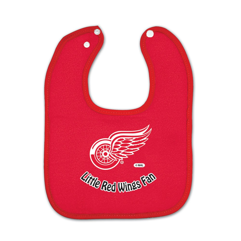 Detroit Red Wings Official NHL  Snap Back Baby Bib by Wincraft
