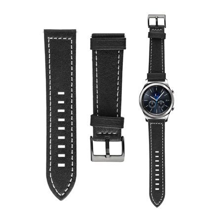 Rawhyde Frontier Leather - EEEKkit Quick Release Leather Watch Band, Luxury Genuine Leather Strap Band For Samsung Gear S3 Frontier Classic 42mm/46mm, Black or Brown