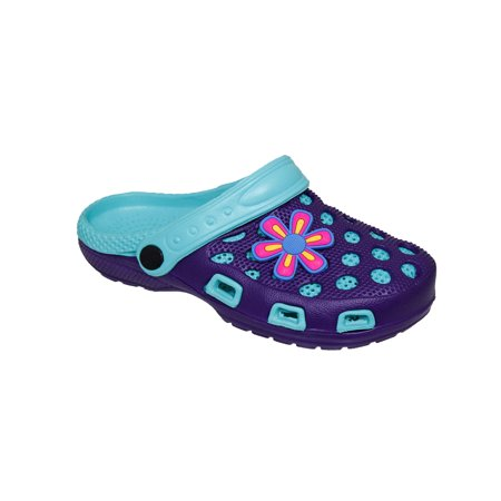 - Spring/Summer Toddler Girls' Fashion Slingback Sandal Clogs With Cute Appliqué Detail For Beach, Pool or Everyday Wear