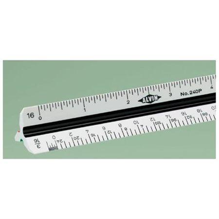 "Alvin 12"" High Impact Plastic Engineer Triangular Scale"