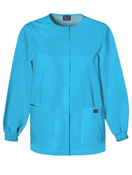 Womens Snap Front Warm-Up Scrub Jacket by Smart Essentials