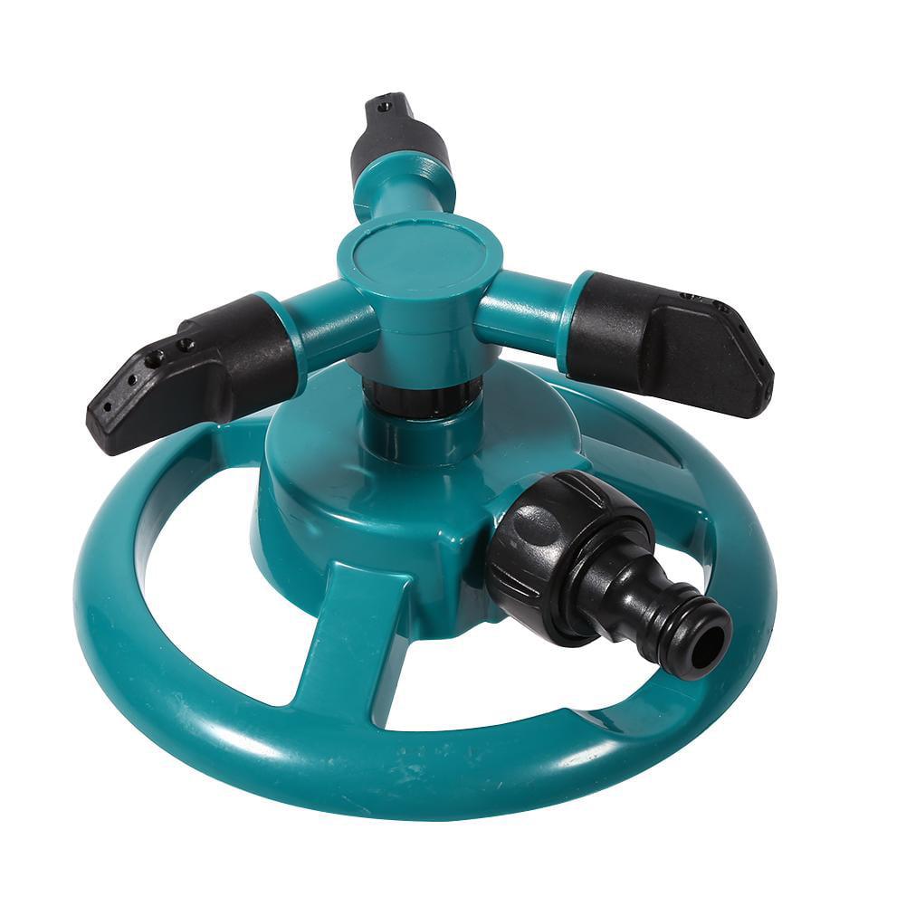 Dilwe Rotating Irrigation Sprinkler, 3 Nozzle Water Sprinkler,360掳 Fully Circle Rotating Watering Sprinkler Irrigation System 3 Nozzle Pipe Hose for Garden