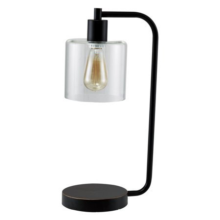 Milton Green Stars Samorn Modern 20.5 in. Table Lamp with Glass Shade ()