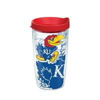 NCAA Kansas Jayhawks Genuine 16 oz Tumbler with lid