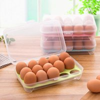15 Grid Refrigerator Crisper Egg Protection Box, Portable Egg Carriage Container, Egg Storage Box
