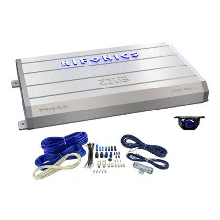 Hifonics Zeus 2400 Watt Mono Class D Car Amplifier + Bass Knob + Wiring Kit