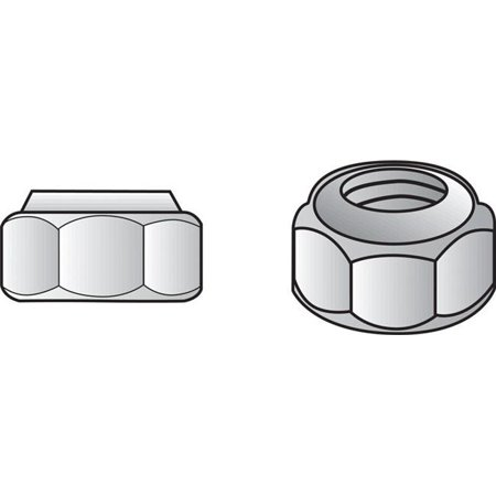 0.5 in. Stainless Steel Lock Nut - 25 Per Box - image 1 of 1