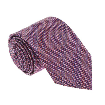 Missoni U4313 Pink/Red Basketweave 100% Silk Tie