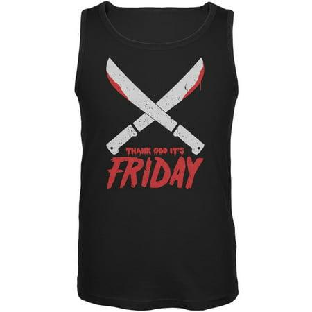 Thank God Its Friday Horror Black Adult Tank Top - Small