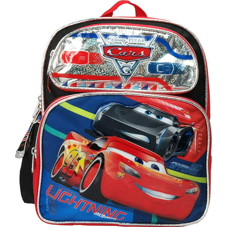 Cars Lightning McQueen 12 inches Toddler Small Backpack (Lightning Mcqueen Sleeping Bag)