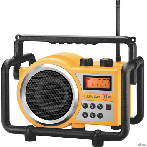 "Sangean LB-100 ""Lunchbox"" Compact Industrial AM FM Radio by Sangean"