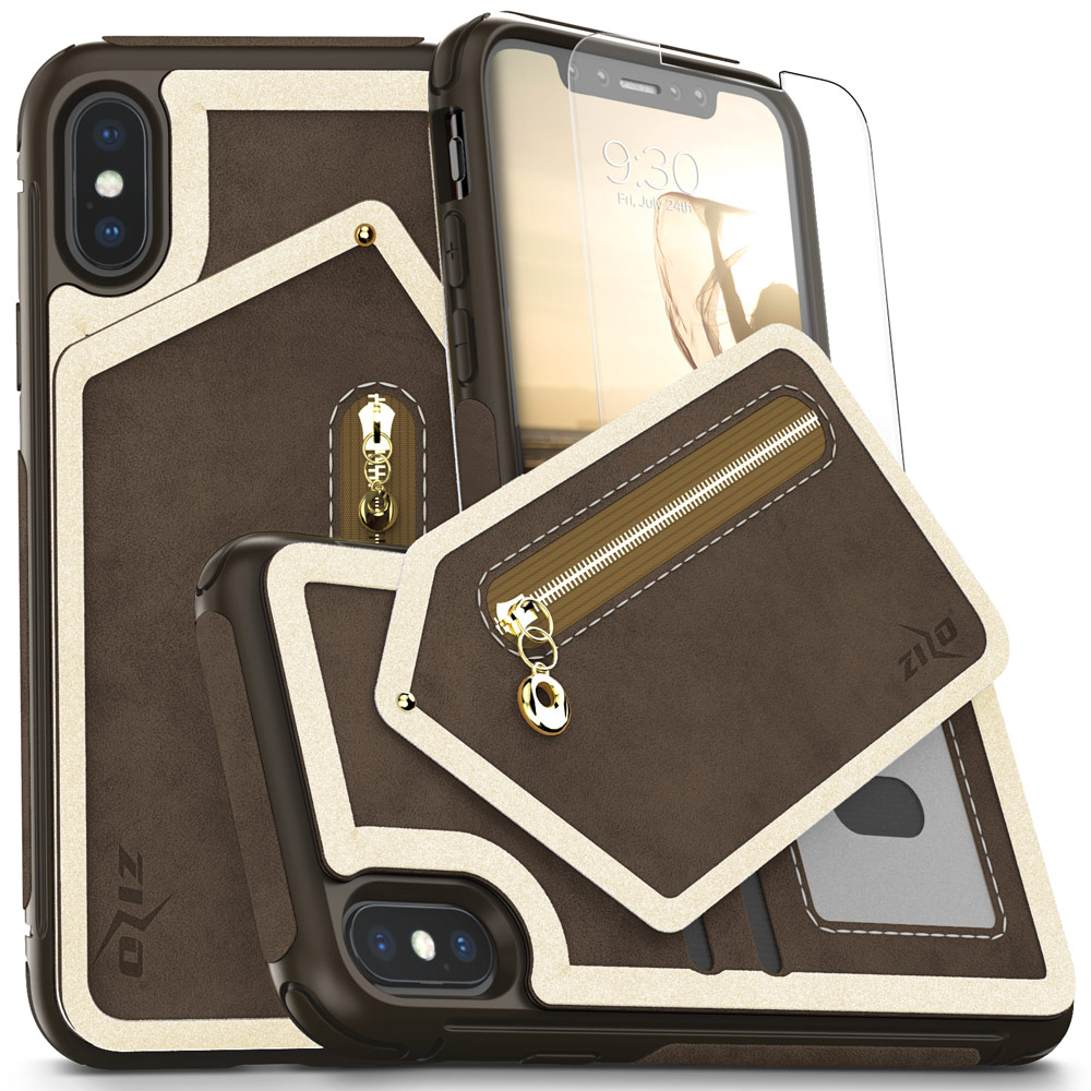 iPhone X / 8 / 7 / 7 Plus Case, Zizo Nebula Cover w/ Screen Protector and Wallet