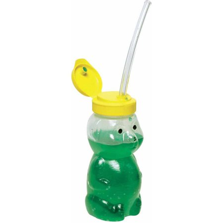 Abilitations Mr Juice Bear Straw Drinking Teaching Cup with Three Straws
