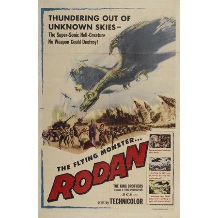 1956 Pattern (Rodan The Flying Monster (1956) 11x17 Movie Poster)
