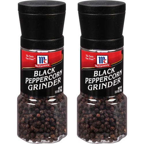 McCormick Black Peppercorn Grinder, 2.5 oz(Pack of 2)