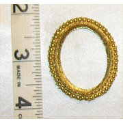 Dollhouse Picture Frame,Large Oval, Gold Color