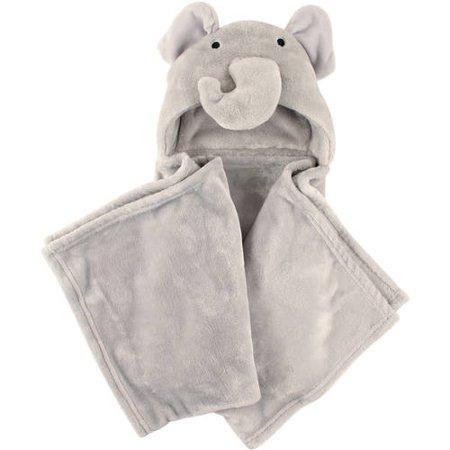 286ed0000 Hudson Baby Boy and Girl Animal Hooded Blanket - Elephant - Walmart.com