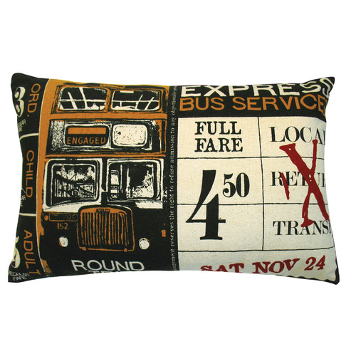 Koko Company Ticket Cotton Lumbar Pillow