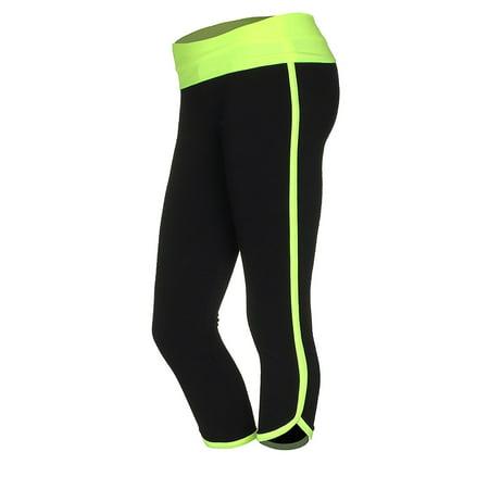 Emmalise Junior Women's Retro Vintage Exercise Yoga Bottom Pants -
