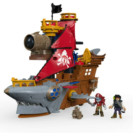 Imaginext Shark Bite Pirate Ship Playset