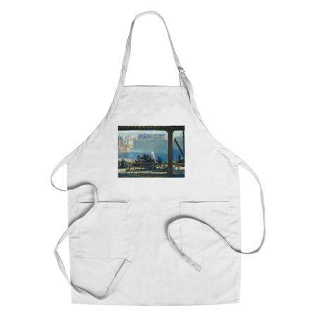 Blue Morning   Masterpiece Classic   Artist  George Bellows C  1909  Cotton Polyester Chefs Apron