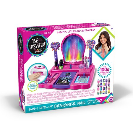 Be Inspired 8-In-1 Lite-Up Designer Nail Studio by Cra-Z-Art