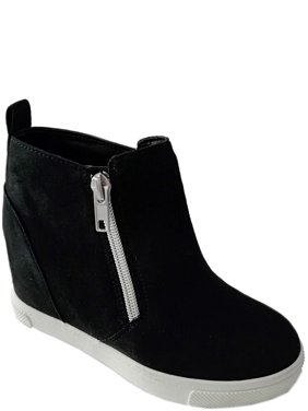 Wonder Nation Girls' Youth Casual Wedge Sneaker Bootie
