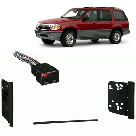 Fits Mercury Mountaineer 1998-2001 Double DIN Harness Radio Install Dash Kit
