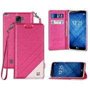 INFOLIO WRIST STRAP LANYARD WALLET CREDIT CARD ID CASE FOR LG STYLO-2 PLUS MS550